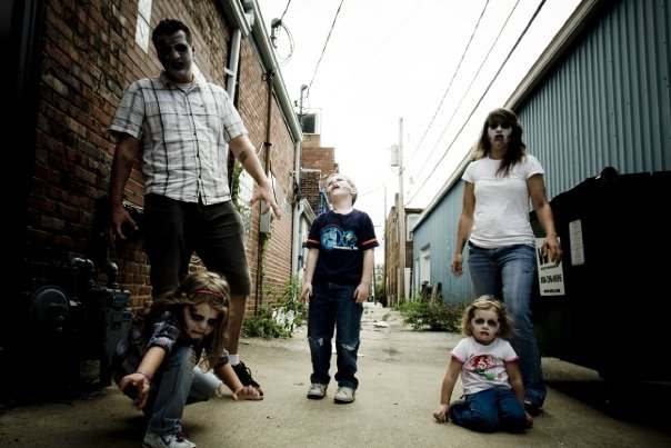 Zombie Family In Alley